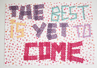 The best is yet to come en washi tape