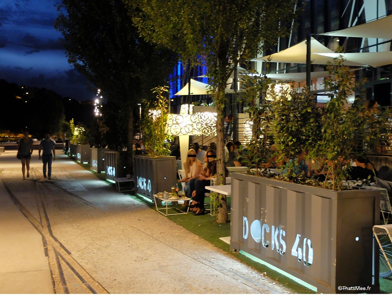 Docks 40 resto bar cocktails chic moderne Lyon Confluences soirée filles