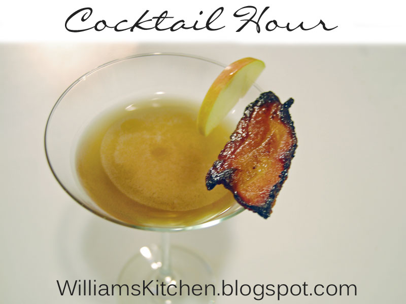 williams kitchen made with love cocktail hour candied bacon martini