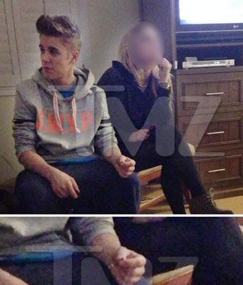 Justin Bieber smoking weed photo