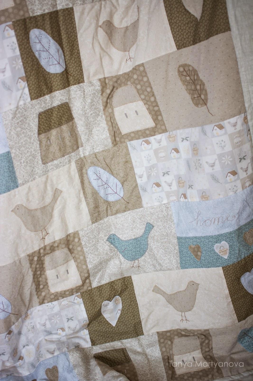 перышки, как сшить одеяло