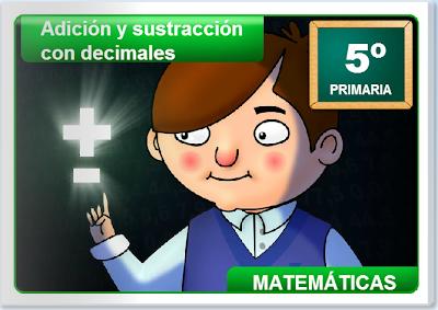 Sumas y restas con decimales, Matemáticas, numeración,decimales,