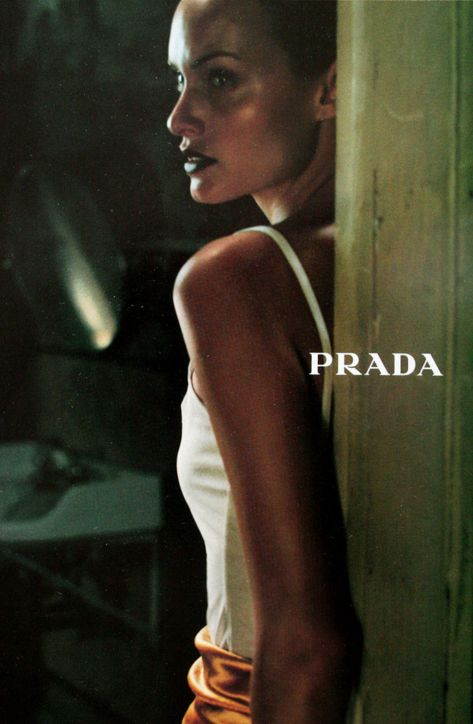 Amber Valletta in Prada Fall/Winter 1997 campaign (photography: Glen Luchford)