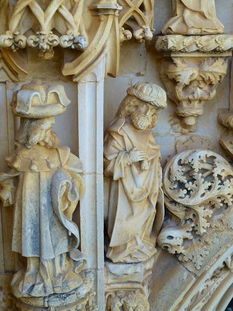Detalle de la fachada de la iglesia del Convento de Cristo en Tomar