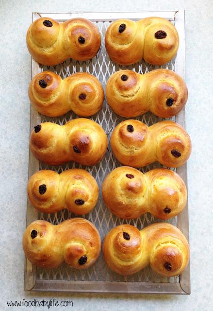 St Lucia Saffron and Cardamom Buns © www.foodbabylife.com