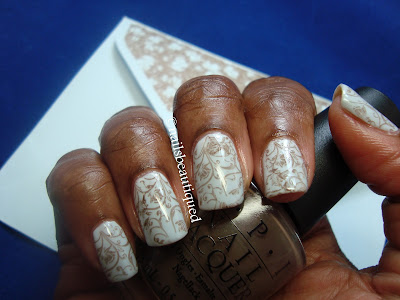 Blue and Brown Nailart