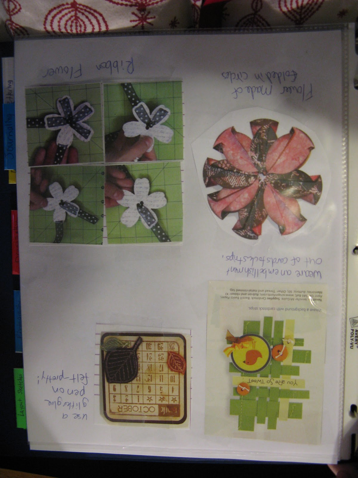 How to make scrapbook binder - Embellishments I Often Put Pictures Of Small Details For Pages That I Like Here Such As Ribbon Flowers They Don T So Much Involved How To Make The Item