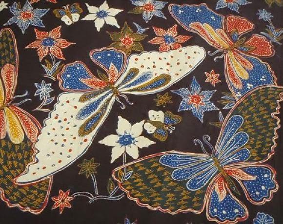 ,motif jenis ini melukiskan kupu-kupu pada seluruh bagian baju. Motif ...