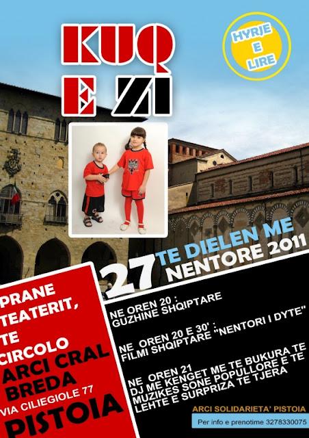 Albanesi a Pistoia festeggiano anniversario dell'Indipendenza dell'Albania
