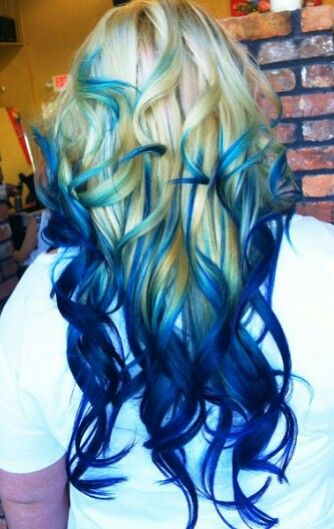 Awesome Blue Ombres The Haircut Web