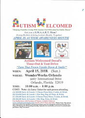 Autism Welcomed Decal (April 15)