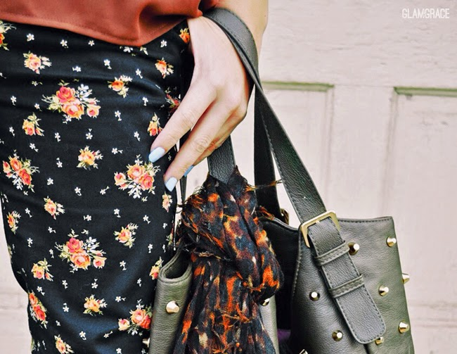 fall floral - pattern mixing