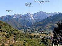 Vista de les valls del Bastareny i del Rigoréixer amb Bagà a primer terme. Autor: Ricard Badia