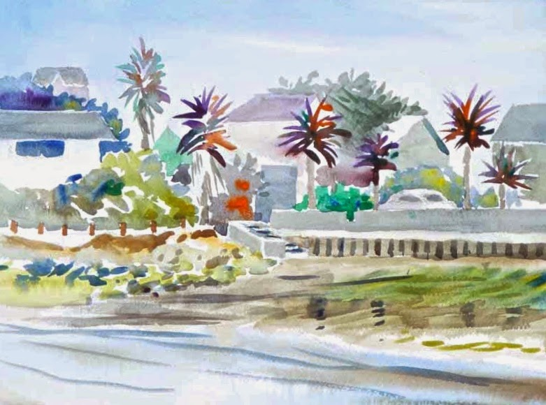 plein air watercolor benicia waterfront