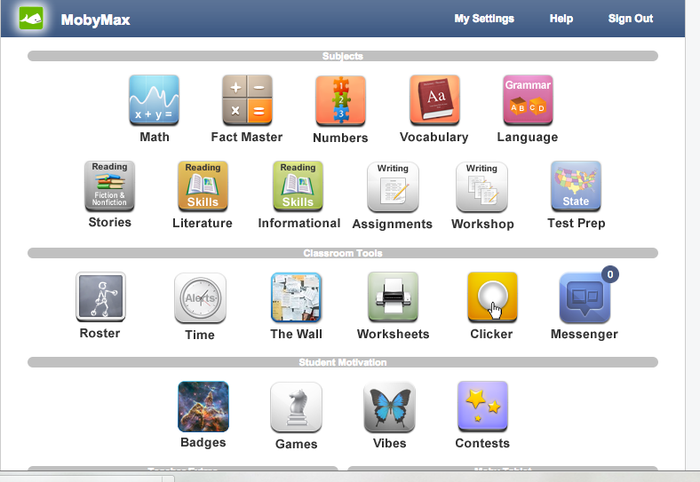 Students parents and teachers can access moby max at home and school