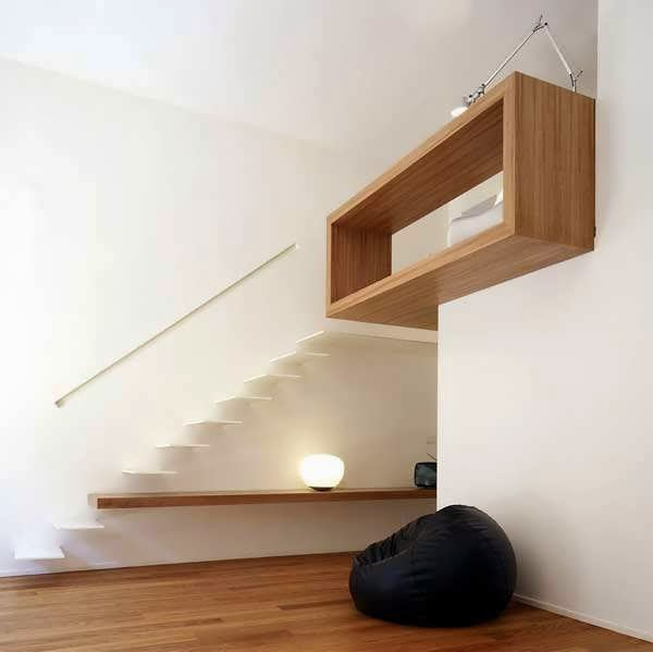 Minimalist interior design of house with full wood for Minimalist house wood