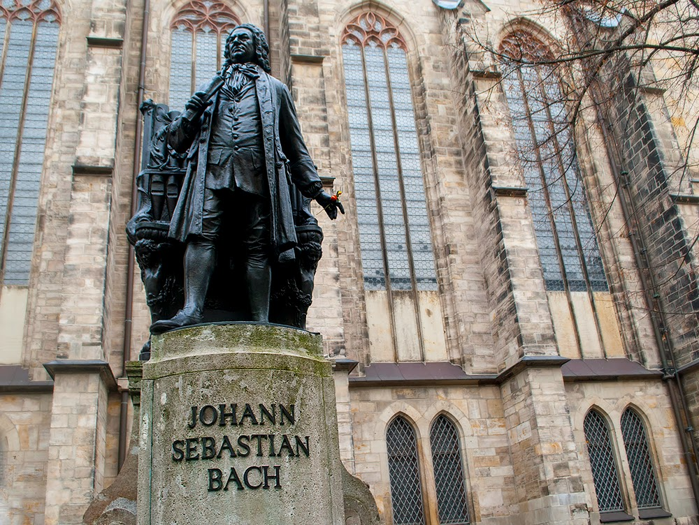 Statue of Musician Composer Bach Leipzig