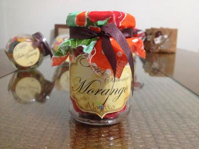 Sabonete artesanal morango