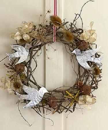 coronas de navidad con papel reciclado ii parte