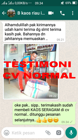 TESTIMONI PEMBELI KAOS SERAGAM CV NORMAL