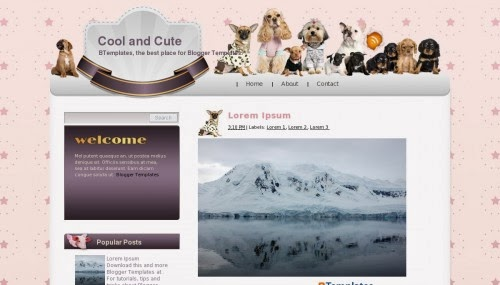 Cool and Cute Blogger Template Animals