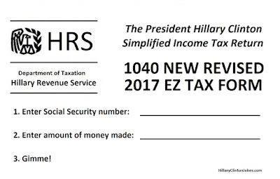 The Hillary Clinton Income Tax Form