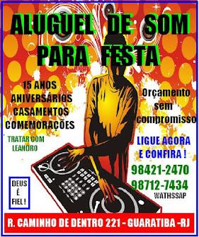 ALUGUEL DE SOM PARA FESTAS
