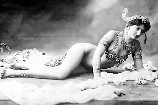 Mata Hari with jeweled bra