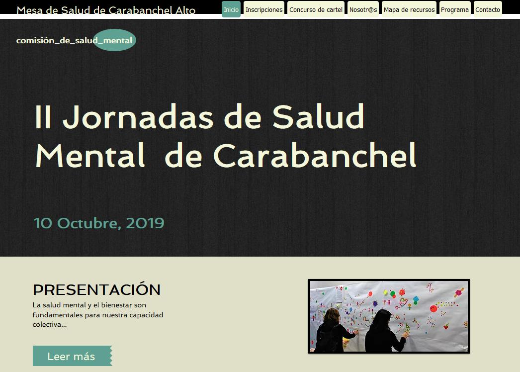 II JORNADAS DE SALUD MENTAL DE CARABANCHEL 2019