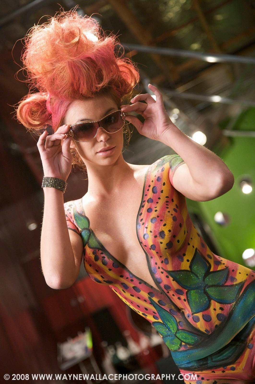 body paint gallery with modern hair styles