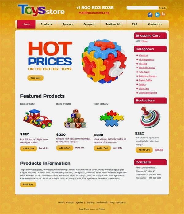 Toys Store - Free Drupal Theme