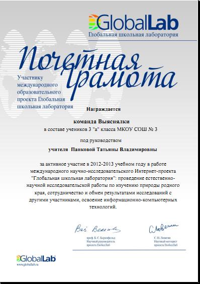 I международный конкурс исследовательских работ и проектов школьников