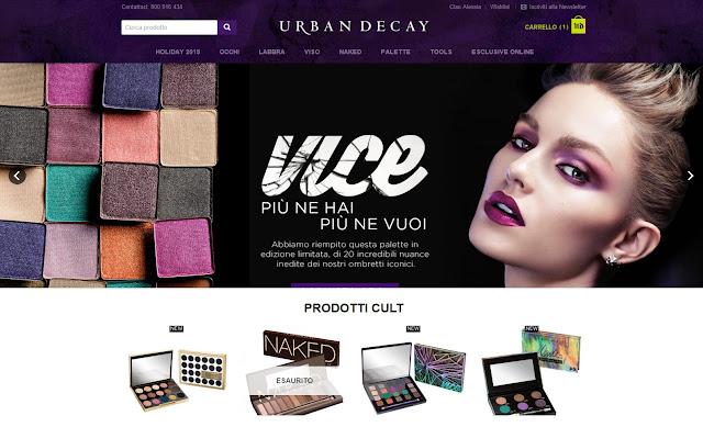 Acquistare sullo store on line di Urban Decay: le mie opinioni sul sito e sul servizio offerto.