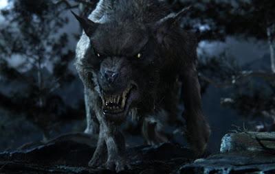 Warg, bichinho de estimação dos Orcs - filme O Hobbit