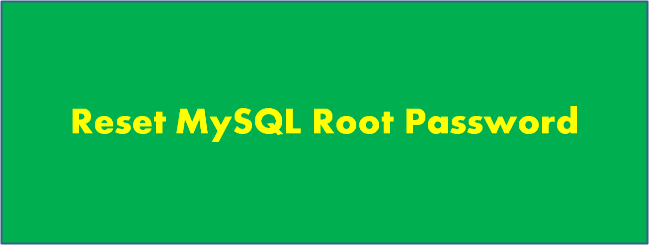 MySQL Root Password Settings