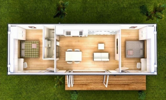 Container House small plane
