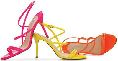 Arezzo verão sandalias de salto alto