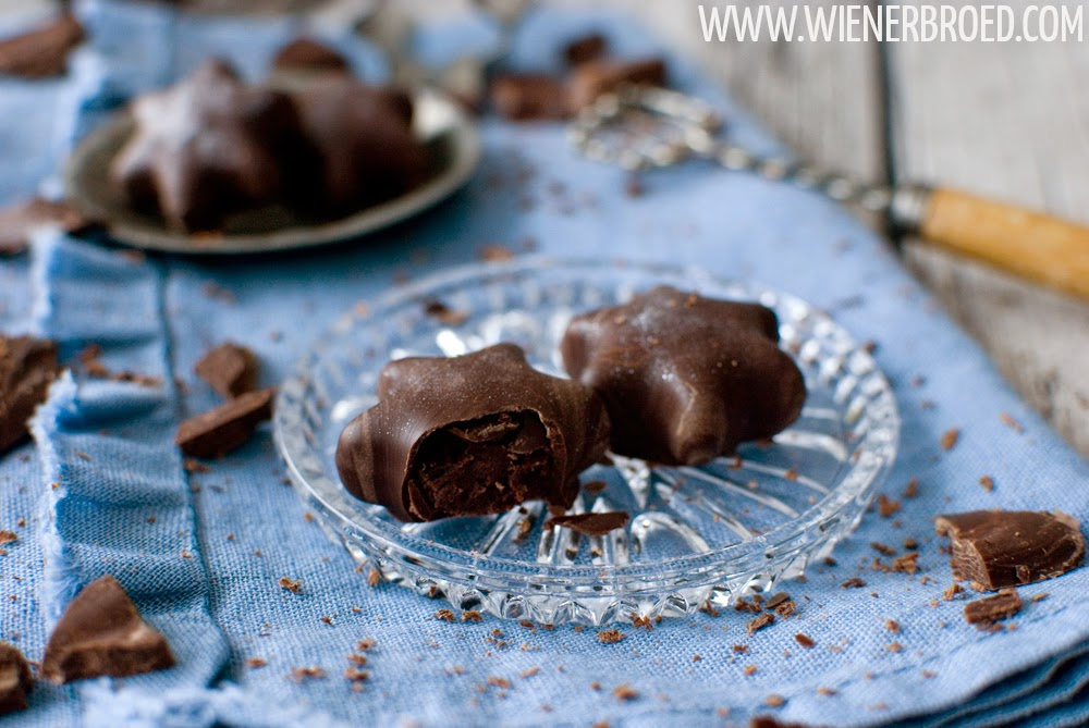 Truffles with Pinot Gris canache