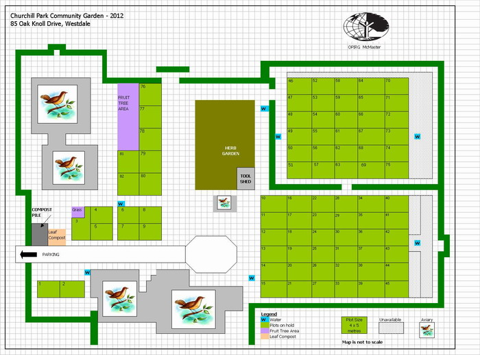 Churchill Park Community Garden Garden Map