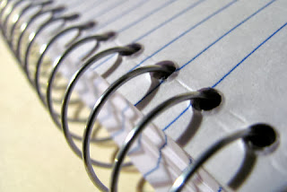 photograph of a spiral notebook