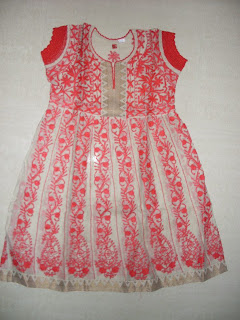 Chanderi Red Anarkali