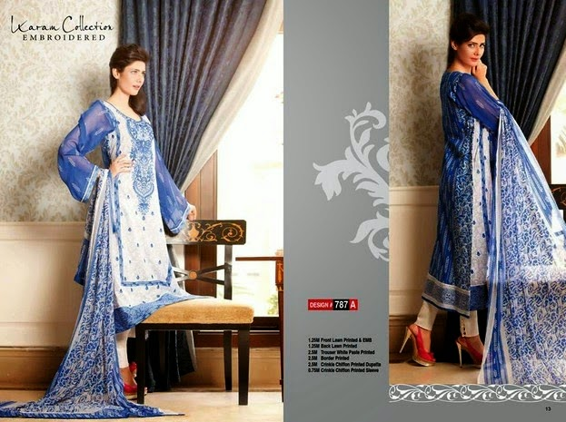 Embroidered Dresses Collection by Karam