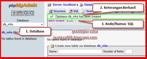 Proses Membuat Database phpMyAdmin Dengan Mudah