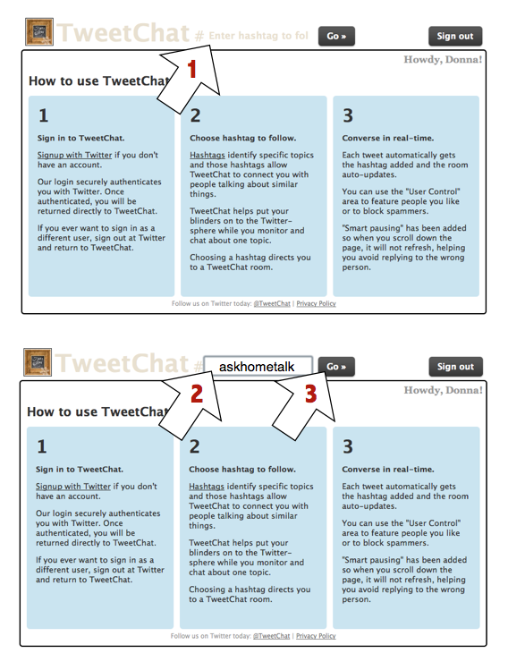 How to use TweetChat for Twitter parties, via Funky Junk Interiors