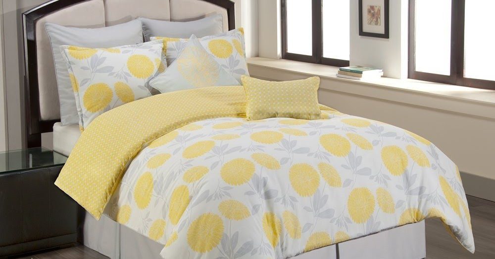 Yellow Grey And White Baby Bedding