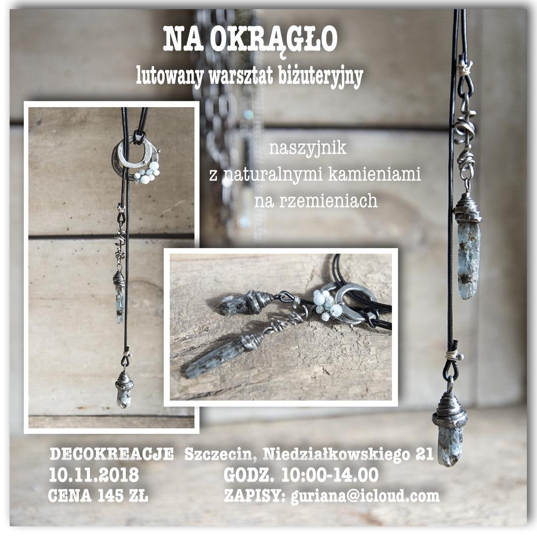 """DecoKreacje Szczecin Wisior  """"Na okrągło"""""""