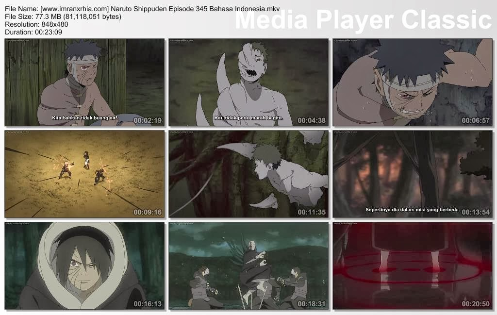 "Download Film / Anime Naruto Episode 345 ""Aku Di Neraka"" Shippuden Bahasa Indonesia"