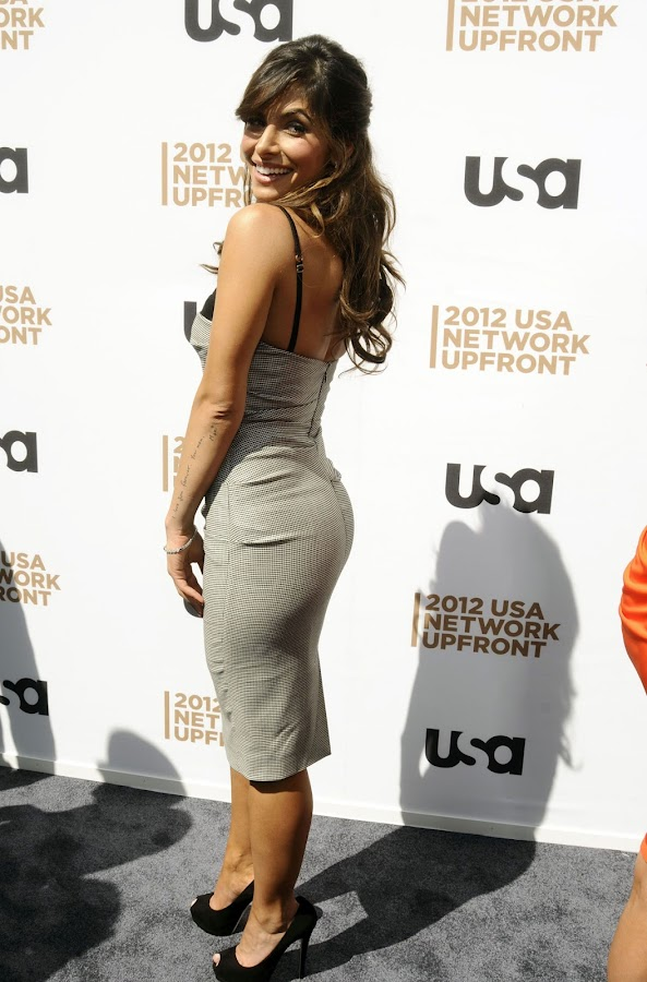 SARAH SHAHI shows off her sexy dress