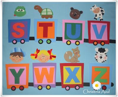 Alfabeto Ilustrado Em EVA  Trenzinho   Animais