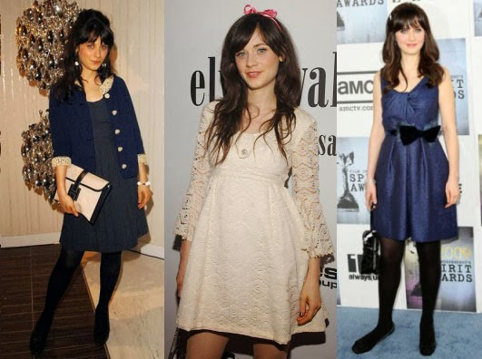 Cute Vintage Outfits on Zooey Deschanel